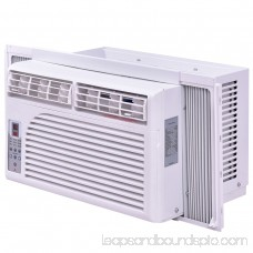 Goplus 6K BTU White Compact 115V Window-Mounted Air Conditioner With Remote Control