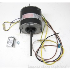 Air Conditioner Condenser Fan Motor Totally Enclosed (TENV) 1/3 HP 230 Volts 1075 RPM Ball Bearing Single Speed for Fasco D7908 Capacitor Included
