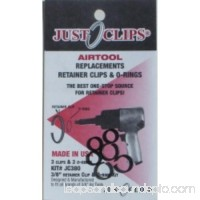 "Just Clips 380-12 3/8"" Anvil Retainer Clip And O-ring Kit, 12 Pack"