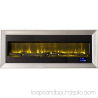 Prokonian 63 Wall Mounted Electric Fireplace with Space Heater SPB15029A, Pewter 556099243