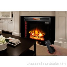 Zimtown 33 Fireplace Electric Embedded Insert Heater Glass Log Flame Remote Control Home ,5200BTU
