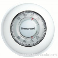 Honeywell The Round Non-Programmable Manual Thermostat, Heat Only (CT87K1004/E1)   001119897