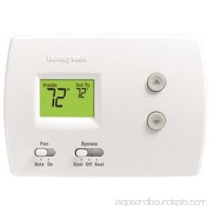 Pro 3000 1 Heat/1 Cool Non-Programmable Digital Thermostat, White 567612897