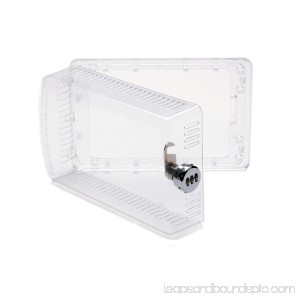 Universal Thermostat Guard Clear with Changeable Code Combination Lock 565253081