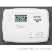 White-Rodgers 1F79-111 Digital Non-Programmable Heat Pump Thermostat with Lighted Display