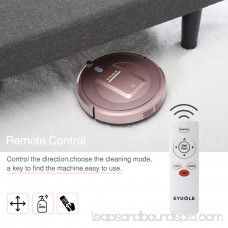 Robot Vacuum Cleaner– Higher Suction Robotic Vacuum Cleaner with Self-charging &Drop-sensing Technology, HEPA Filter for Pet Fur Robotic Vacuum -Rose Gold
