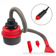 Car Vacuum, Mighty Portable Travel Inflator Wet Dry Vacuum Car, Black-red