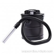 GHP 1000W C Black 5.3-Gallon Tank Capacity Ash Vacuum Cleaner with HEPA Filter