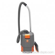 Hoover Commercial HushTone Backpack Vacuum Cleaner, 11.7 lb., Gray/Orange 555668421