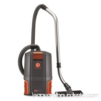 Hoover Commercial HushTone Backpack Vacuum Cleaner, 11.7 lb., Gray/Orange 555668421