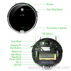 ILIFE A6 Robotic Vacuum Cleaner Ultra Slim with Electrowall Stair Barrier, Super Quiet
