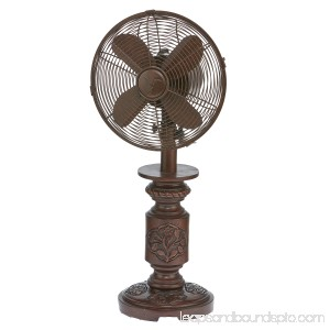 DecoBREEZE Oscillating Table Fan 3-Speed Air Circulator Fan, 10-Inch, Muriel 566241560