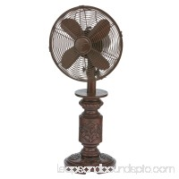 DecoBREEZE Oscillating Table Fan 3-Speed Air Circulator Fan, 12-Inch, Cantalonia   566232841