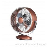DecoBREEZE Retro Fan Air Circulator Table Fan with Full Pivot Fan Head, Metallic Copper   566232846