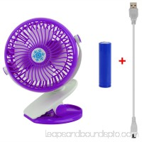 GPCT Clip-On Desk Personal Quiet Table Fan. Energy Efficient/Micro USB Powered Cooling Office Desktop Fan- Traveling/Camping/Fishing/Hiking/Backpacking/BBQ/Baby Stroller/Picnic/Biking/Boating (Blue)