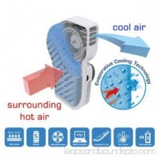 Handy Cooler Small Fan & Mini-Air Conditioner, Snowman (Blue)