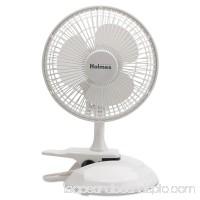 "Holmes 6"" Convertible Clip/Desk Fan, 2 Speed, White   552230146"