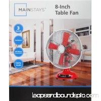 "Mainstays, 8"" Table Fan, Red, SFDR0-200BPTR   566913458"