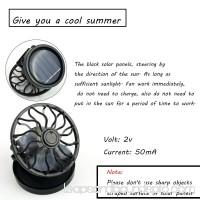 New Portable Mini Fun Energy Saving Clip-on Solar Cell Fan Sun Power energy Panel Cooling  For Traveling /Fishing/Climbing Black