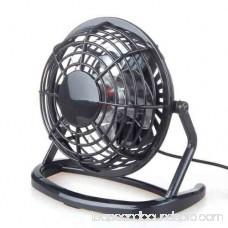 Portable Office Desk Rotary Cooling Fan, USB Port Electric Fan Color:Black
