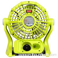 Ryobi P3320 120V AC or 18V ONE+ Dual Power Portable Hybrid Electric Fan, Tool Only
