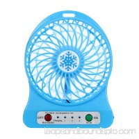 Womail® Portable Rechargeable LED Light Fan Air Cooler Mini Desk USB 18650 Battery Fan