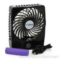 YKS 7-inch Portable USB Clip-on Fan 360 Degree Rotatation Desk Fan(White)