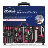 Apollo Tools 71-Piece Household Tool Kit, Pink   553672285