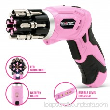 Pink Power 18V Cordless Drill Driver & Electric Screwdriver Combo Kit with 20 inch Tool Bag