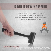 No Elasticity Dead Blow Rubber Hammer Mallet Double-faced Shock Absorbing 568971198