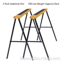 Gymax 2 Pack Heavy Duty Saw Horse Steel Folding Legs Portable