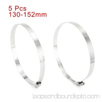 5-inch to 6-inch Clamping Range 201 Stainless Steel American Hose Clamp 5pcs