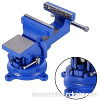 "Bench Vise Clamp,4"" 100mm Mechanic Work Shop Table Top Clamp Press Locking Swivel Base Cast Iron Tool"