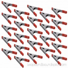 Wideskall® 4 inch Metal Spring Clamps w/ Red Rubber Tips Clips (Pack of 60)