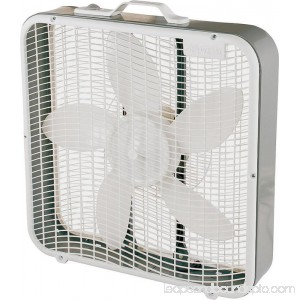 Comfort Zone Cz200u 20 3-Speed Box Fan with Top Handle