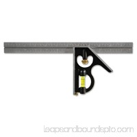Empire Combination Square, 12 Blade, 1/16 Graduations, Steel/Black 551888073