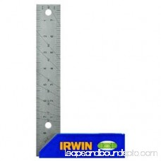 Irwin 1794473 Tri and Mitre Square, 8 in L, Stainless Steel Blade/High Impact ABS Handle