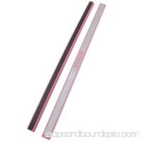 Unique Bargains 2 Pcs Plastic 12 Whiteboard Magnetic Stripe School Office Pink Silver Tone