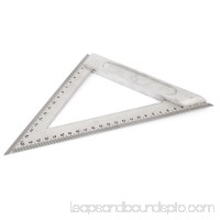 Unique Bargains 200mm Silver Tone Metric Triangle Ruler Measurement Tool