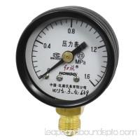 0-1.6Mpa 10mm Male Thread Black Metal Case Pneumatic Pressure Gauge