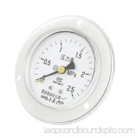 0-2.5MPa 2.5 Accuracy Round Dial Compressor Air Vacuum Pressure Meter Gauge 60mm