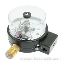 1/2 Threaded Black Electric Contact Pressure Gauge 0-0.6MPa AC 380V 10VA
