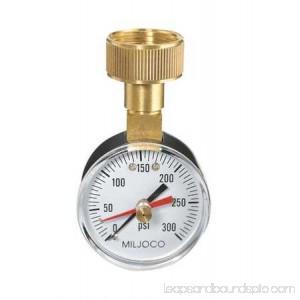DURO 18C830 Pressure Gauge, Max. Reading, 2 In