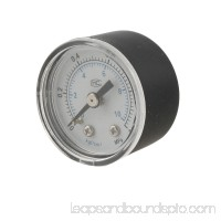 "Unique Bargains 0-1MPa 0.37"" Male Gold Tone Thread Pressure Gauge for Air Compressor"
