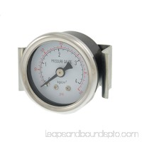 "Unique Bargains 1.8"" Dial 0.35"" Thread Hydraulic Pressure Gauge 0-60Psi"