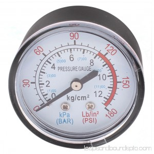 Unique Bargains Round Shaped Dial Compressor Air Pressure Gauge 0-170 PSI 12Bar
