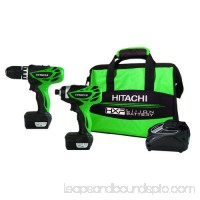 Hitachi KC10DFLPR 12V Peak 1.5 Ah Cordless HXP Lithium-Ion Micro Drill and Impact Driver Combo Kit 550041005