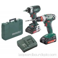 METABO Cordless Combo Kit,18.0 V,2 Tools,2 Batt BS18Q + SSD18 LTX 200 + 2x 2.0Ah