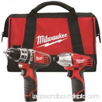 Milwaukee M12 Cordless Lithium-Ion 2-Tool Combo Kit   562901311