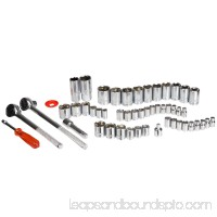52 Piece 1/4, 3/8 and 1/2 Drive Socket Set SAE and Metric by Stalwart 565431208
